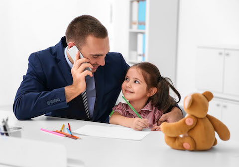 Working father, gender pay gap, working parents